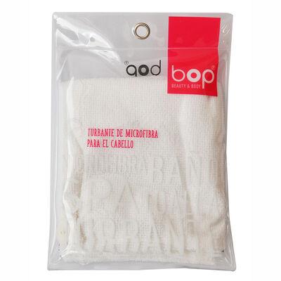 Turbante Microfibra Blanco para Cabello