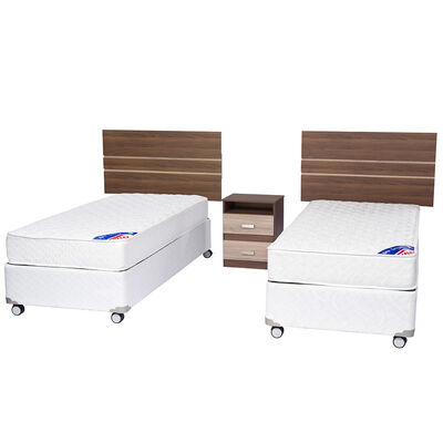 Doble Box Americano New Entree 1 Pl Flex + Muebles Milano
