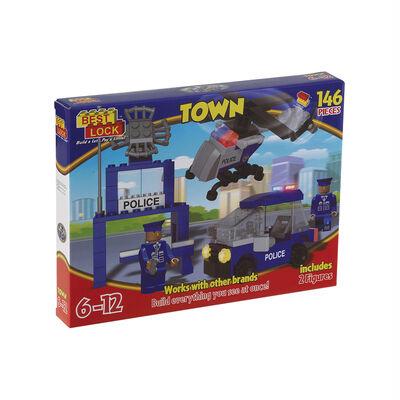 Bloques De Construcción Best-Lock  Policia 146 Piezas