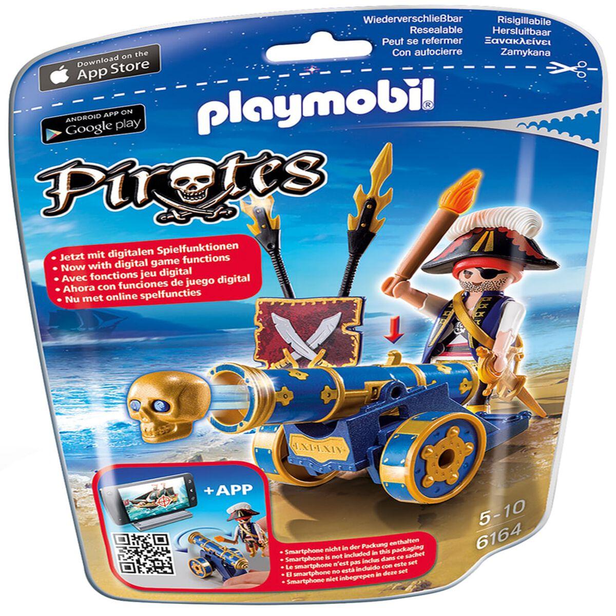 Set Playmobil Cañón Interactivo Azul con Pirata