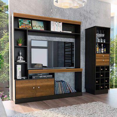 Estante + Mueble de Bar TuHome Clasicc