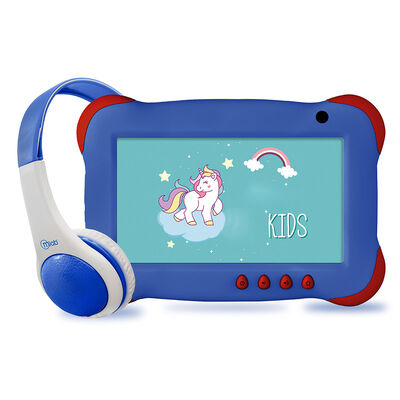 "Tablet Microlab KIDS+ Quad Core 1GB 16GB 7"" Azul + Audifonos Mlab"