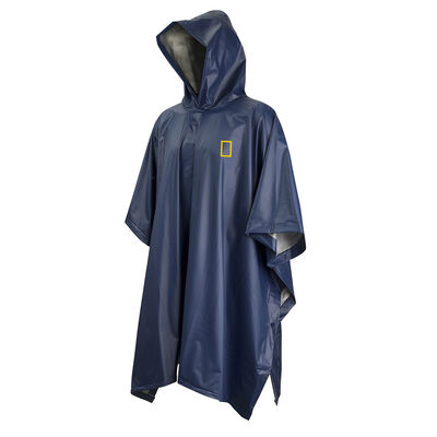 Poncho National Geographic Impermeable Azul