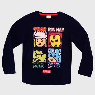 Polera de Algodón Niño Avengers