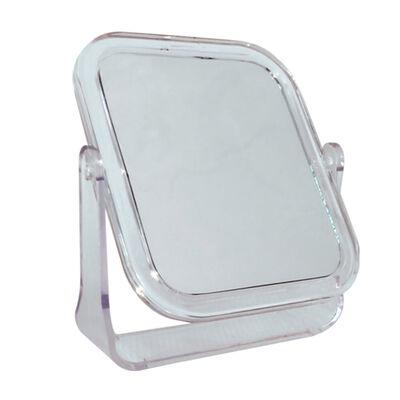 Espejo de Mesa Cuadrado Doble