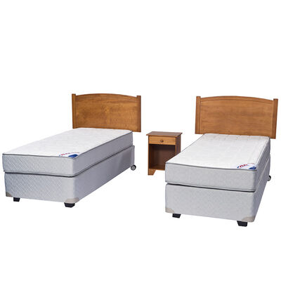 Doble Box Spring Therapedic 1 Pl Flex + Muebles Arezzo
