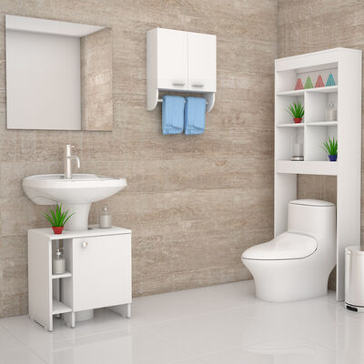 Mueble Lavamanos + Mueble Optimizador + Gabinete TuHome