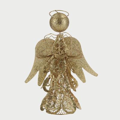Angel Decorativo Dorado 25 Cm
