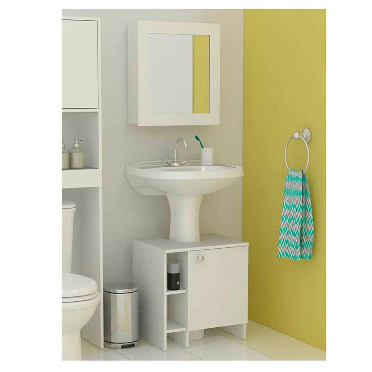Gabinete con Espejo + Mueble para Lavamanos TuHome