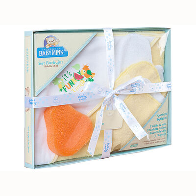 Set de Baño Kit Burbujas Amarillo Baby Mink