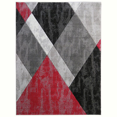 Alfombra Frise Carved Florida D3 80X120 Cm Red