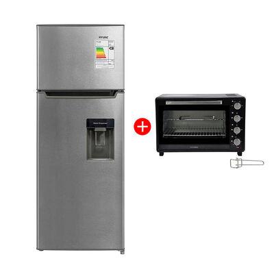 Combo Refrigerador Frío Directo Hyundai MRF220D 213 lt. + Horno Eléctrico Hyundai HY35N 35 lt.