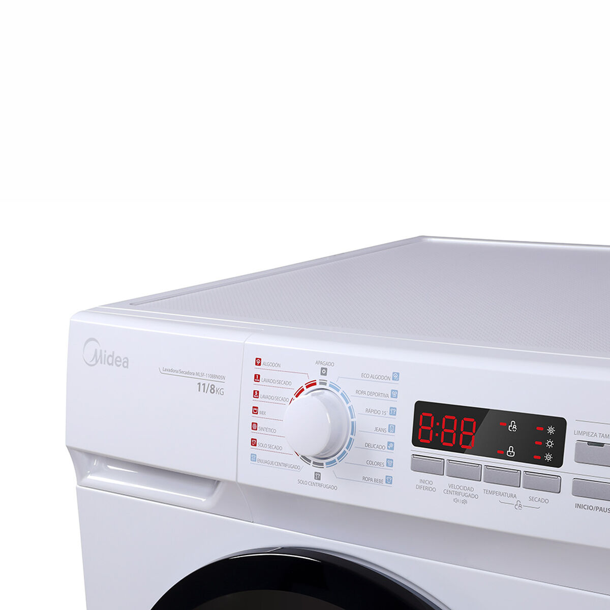 Lavadora Secadora Midea MLSF-1108BN05N 11/8 kg.