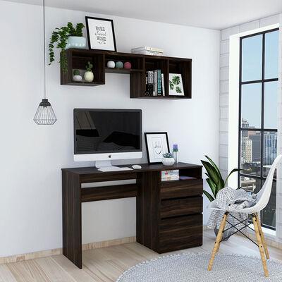 Escritorio Office 7  + Repisa Wall 1B