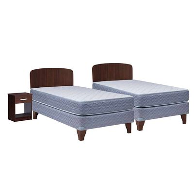 Cama Europea Celta 1 Plaza New Atlantis + Respaldo + Velador
