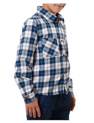Camisa de Algodón Escocesa Niño Exception