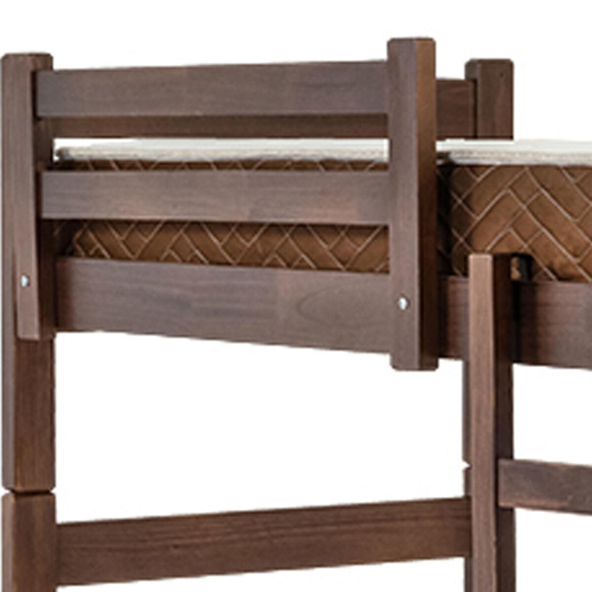 Camarote Litera de madera California 80 cm + Colchones de resortes  Chocolates Especial