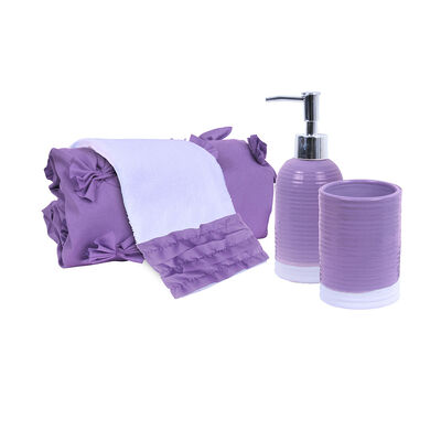 Set Cortina 4 Piezas Mashini Lavanda