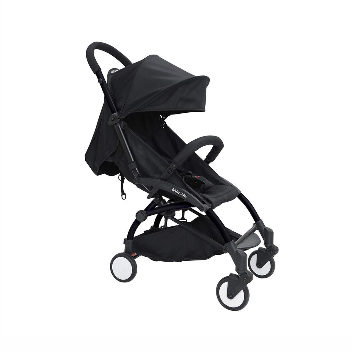 Coche Paseo Negro Baby Way BW-207N17