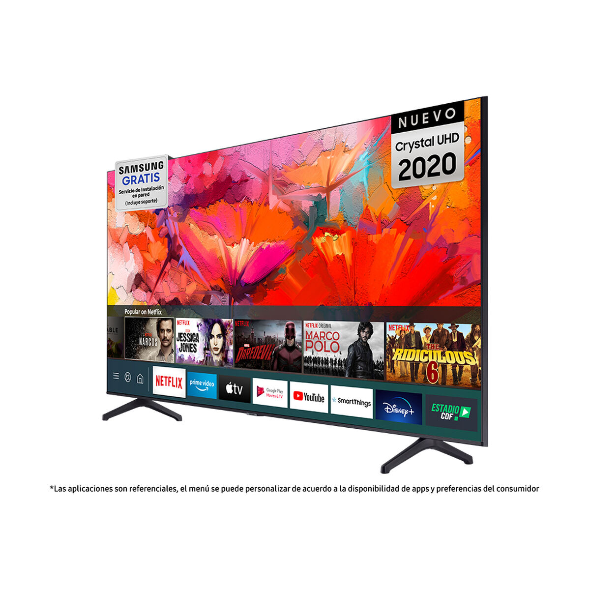 "LED 65"" Samsung TU6900 Smart TV Crystal 4K UHD 2020"