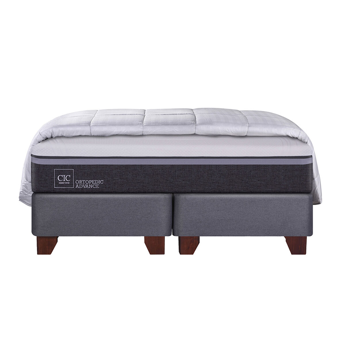 Box Spring King Div Ortopedic Advance + Textil