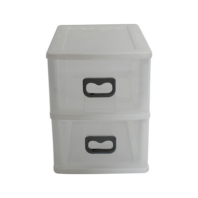 Caja Organizadora Plástica Mediano San Bernardo 2 Niveles Blanco