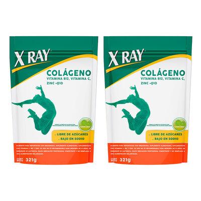 X Ray Pack 02 Colágeno en Polvo 321 g. c/u