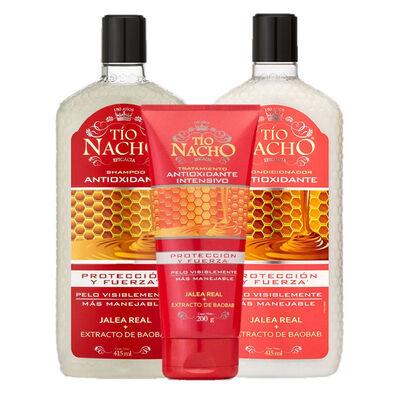 Pack Tío Nacho Antioxidante Shampoo + Acondicionador + Tratamiento