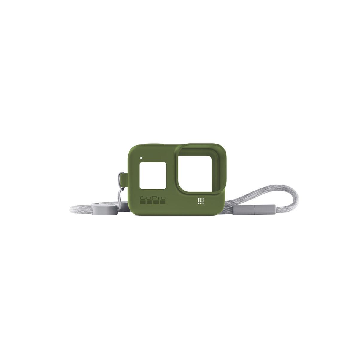 Funda de Silicona + Cordón Verde para GoPro HERO8
