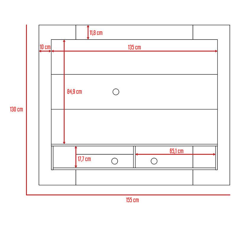 Set Panel TV Wall 1A + Repisa Wall 1A