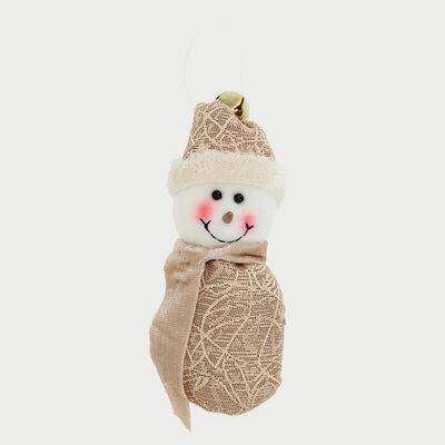 Snowman Colgante Dorado 15 Cm