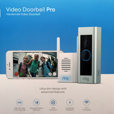 Timbre con Visor Ring Video Doorbell PRO Plata