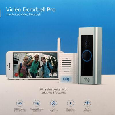 Timbre con Visor Ring Video Doorbell PRO Plata