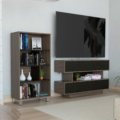 Biblioteca + Rack TV TuHome Bellagio