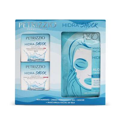 Tratamiento Crema Hidrashock Día + Noche+ Máscara Facial de Tela