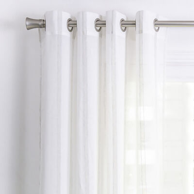 Cortina de Velo Fabrics Estampada 140 x 220 cm Blanco