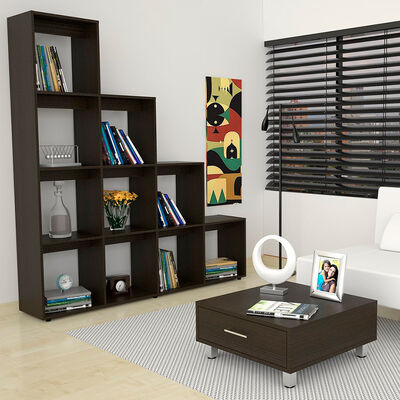 Set Biblioteca Beijín Escalera + Mesa de Centro Beijín
