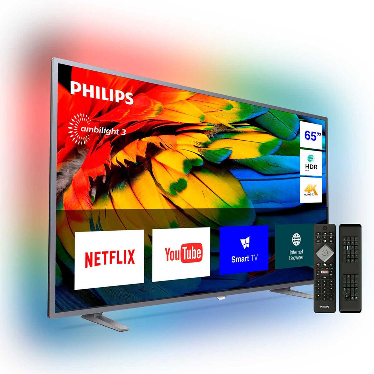 "LED 65"" Philips 65PUD6703 Smart TV Ultra HD 4K Ambilight y Teclado Qwerty"
