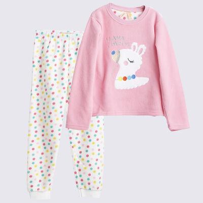 Pijama de Polar Niña Chess