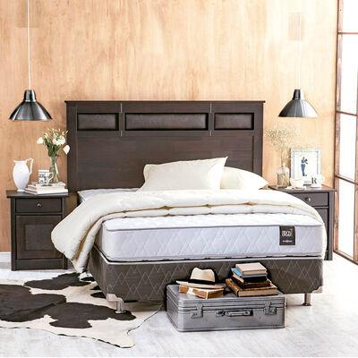 Box Spring 2 Plazas Rosen Ergo-T Respaldo+Veladores+Textil