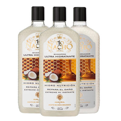 Pack Tío Nacho Ultra Hidratante 2 Shampoo + 1 Acondicionador