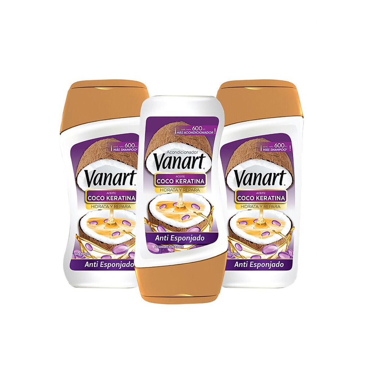 Pack Vanart Anti Esponjado 2 Shampoo + 1 Acondicionador