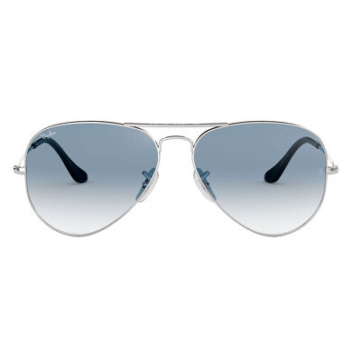 Lentes Ray Ban Aviator Silver Blue Gradient