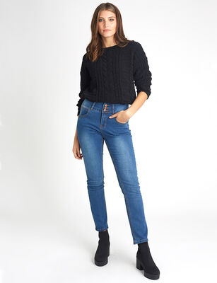 b497d8470 Jeans Recto Mujer Icono