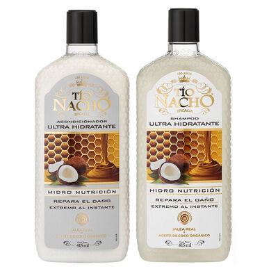 Pack Tío Nacho Coco Ultra Hidratante Shampoo + Acondicionador