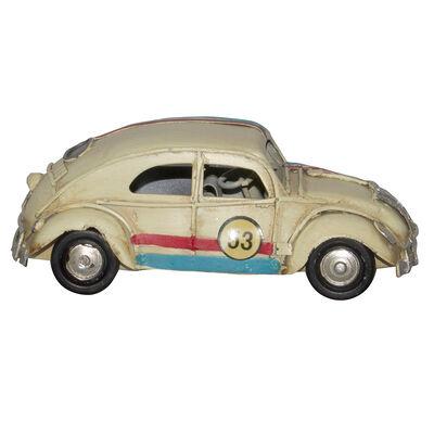 Adorno Auto Mini Escarabajo Crema