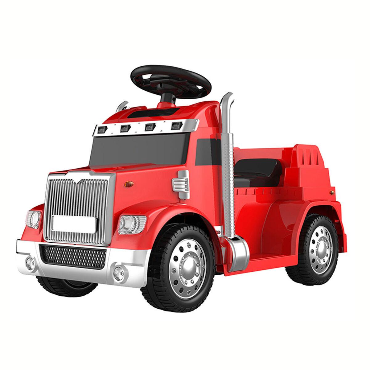 Auto Eléctrico Camión Rojo