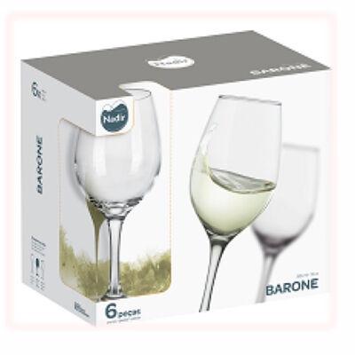 Set 6 Copas de Vino Nadir Barone 385 cc