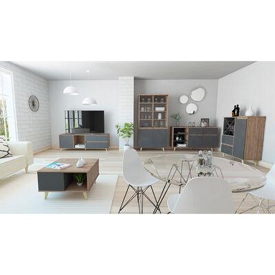"""Rack Tv 60"""" + Vitrina + Bar + Bife + Mesa Centro Salem"""
