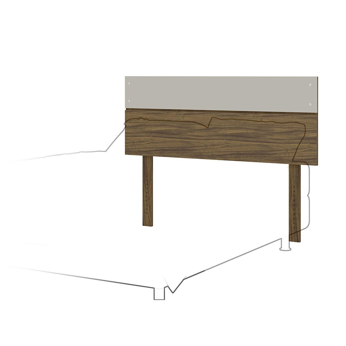 Combo Cama Europea Celta 2 Plazas Bamboo + Set Maderas Combinare Nogal